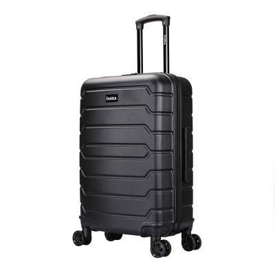 """InUSA Trend 24"""" Lightweight Hardside Spinner Suitcase - Black"""