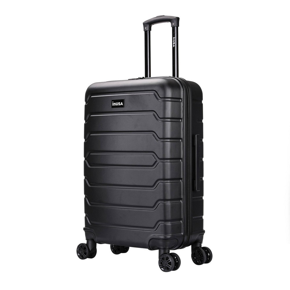 Inusa Trend 24 34 Lightweight Hardside Spinner Suitcase Black