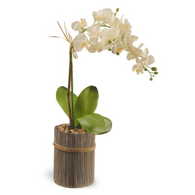 "Garden Accents Artificial Potted Orchid White 20"" - National Tree Company"