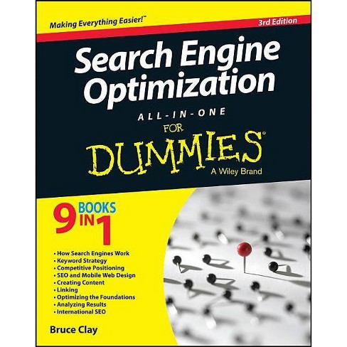 Search Engine Optimization All In One For Dummies 3rd Edition By Bruce Clay Paperback Target