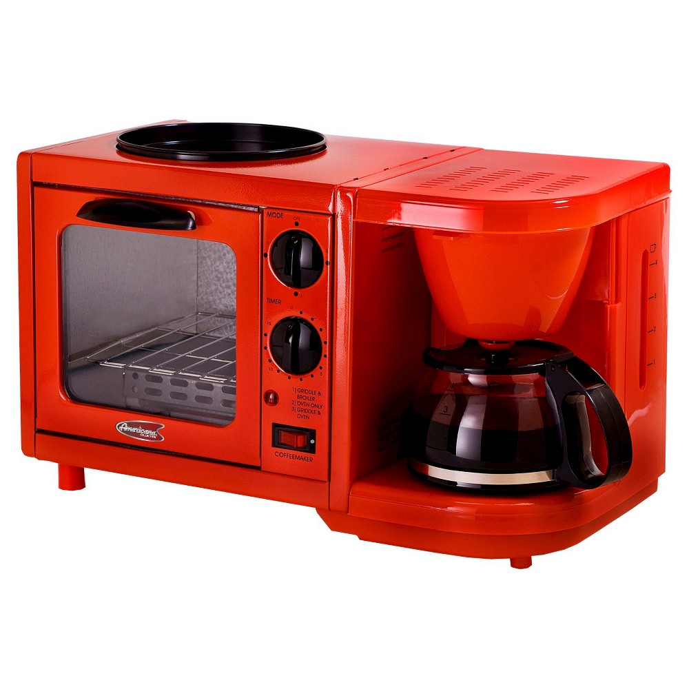 Image of Americana by Elite Multi-function Toaster Oven - Red