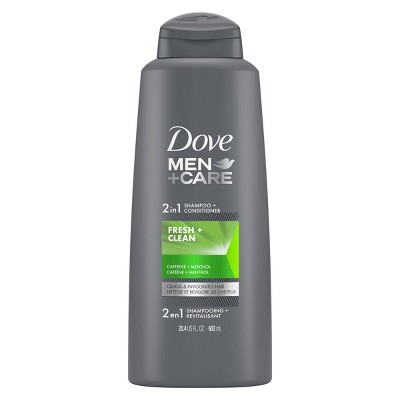 Dove Men+Care Fortifying 2-in-1 Shampoo and Conditioner for Normal to Oily Hair Fresh and Clean with Caffeine
