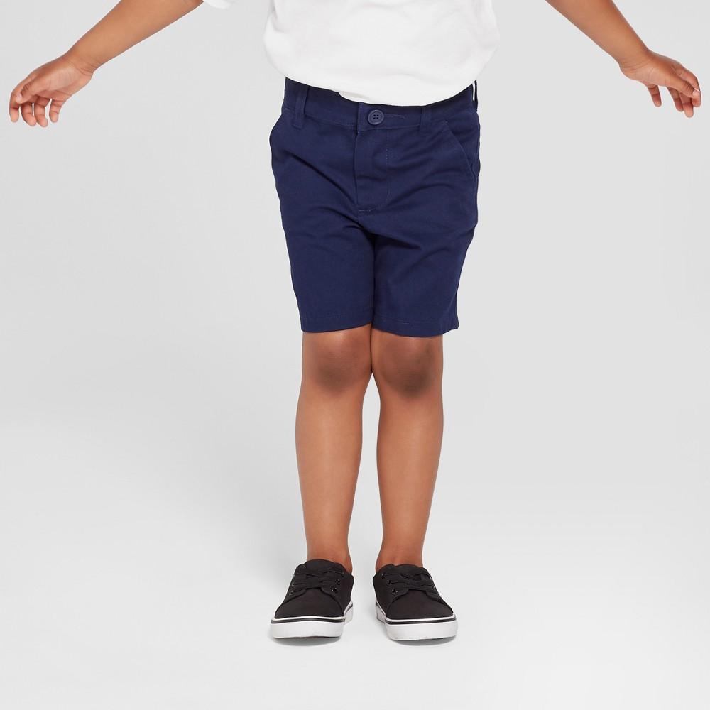 Toddler Boys' Uniform Chino Shorts - Cat & Jack Navy (Blue) 5T
