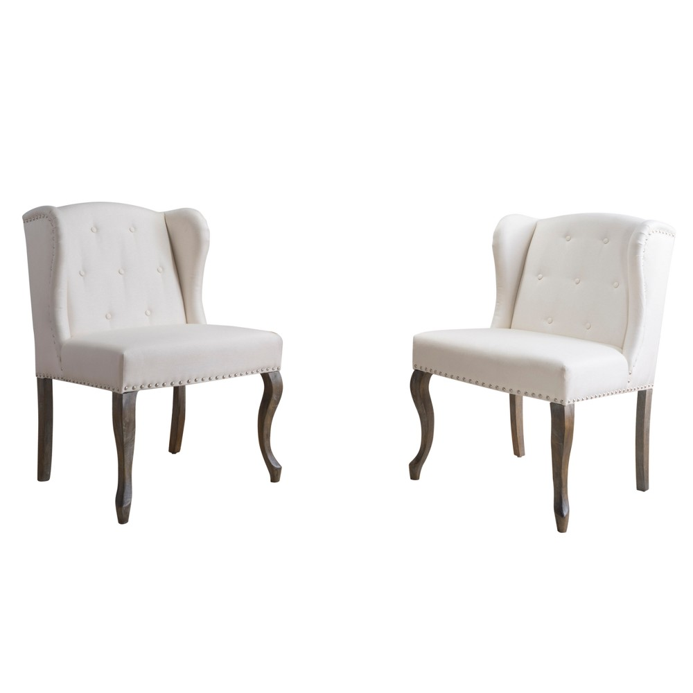 Niclas Accent Chair - Beige (Set of 2) - Christopher Knight Home