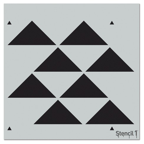"Stencil1® Triangles Staggered Repeating - Wall Stencil 11"" x 11"" - image 1 of 3"