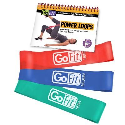 GoFit Round Power Resistance Bands 3pk- 5lb, 10lb, 15lb