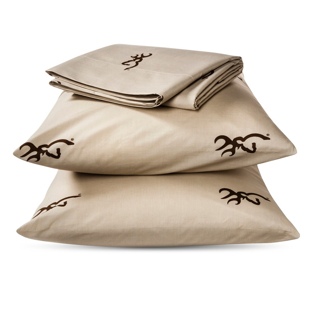 Image of Brown Buckmark Logo Sheet Set 2 Piece (Twin) - Browning