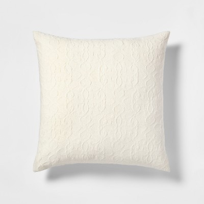 Medallion Oversize Square Throw Pillow White - Threshold™