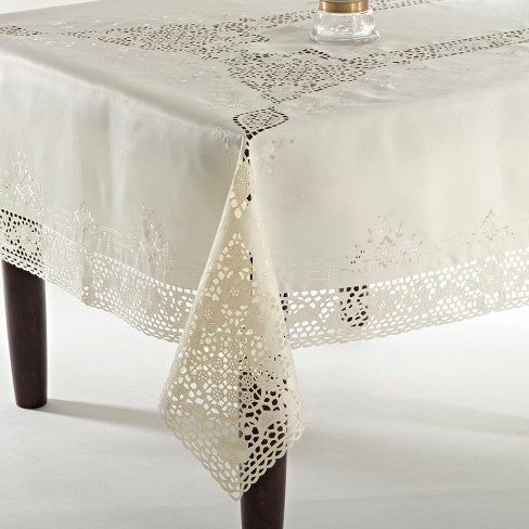 Saro Lifestyle Embroidery & Cutwork Tablecloth - image 1 of 1