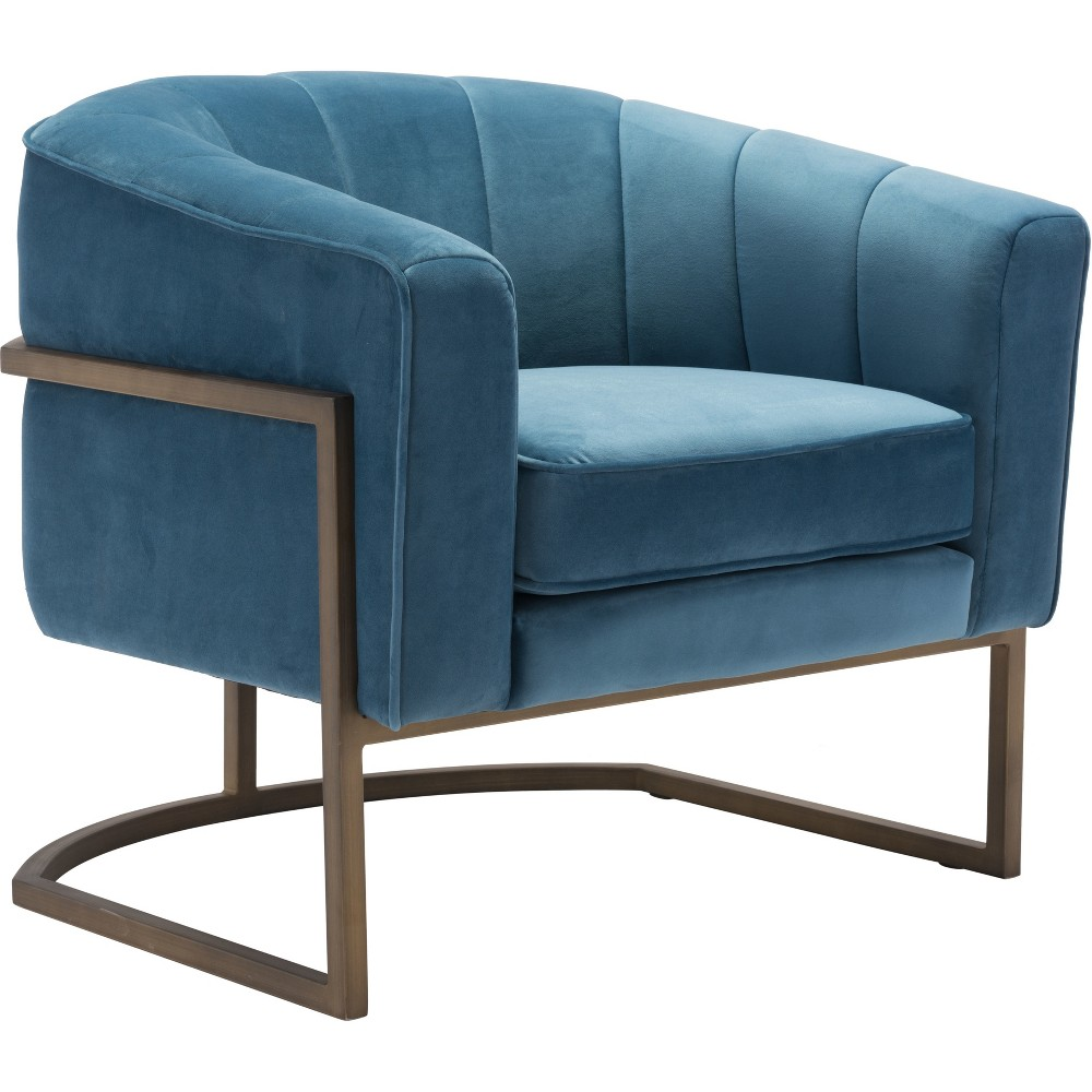 Luxe Velvet Occasional Chair Blue - ZM Home