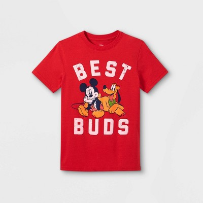 Boys' Disney Mickey Mouse & Friends Best Buds Short Sleeve Graphic T-Shirt - Red - Disney Store