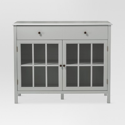 Windham 2 Door Accent Buffet, Cabinet with Shelves - Gray - Threshold™
