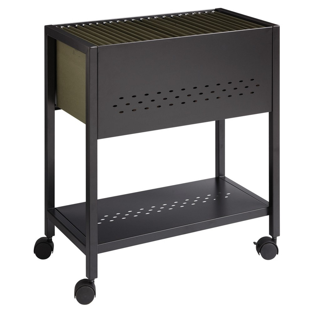 """Image of """"Hirsh Cart File Cabinet on Wheels Letter/Legal 24"""""""" Black"""""""