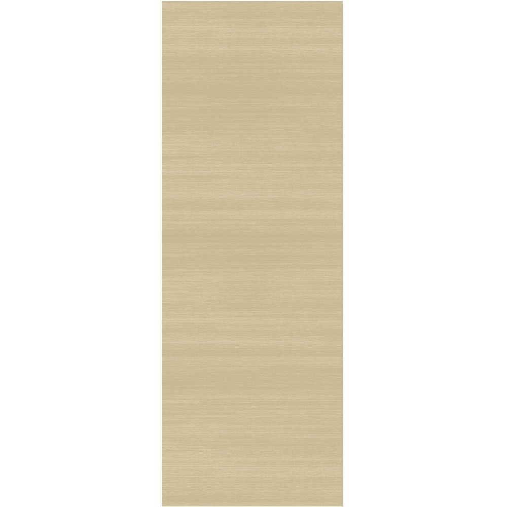 "Image of ""Cream Solid Woven Runner 2'6""""X7' - Ruggable, Size: 2'6""""X7' RUNNER, Ivory"""