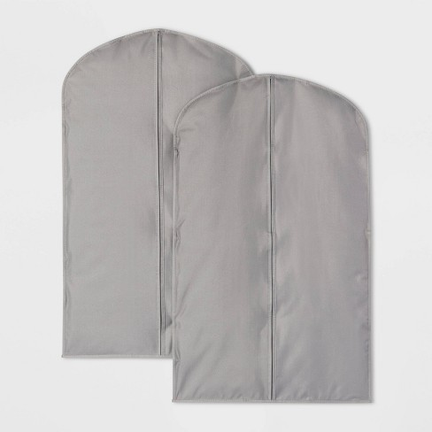 2pk Suit Protector Garment Bag Gray - Room Essentials™ - image 1 of 1