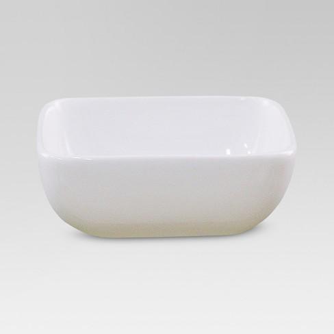4oz Porcelain Square Dip Bowl White - Threshold™ - image 1 of 1