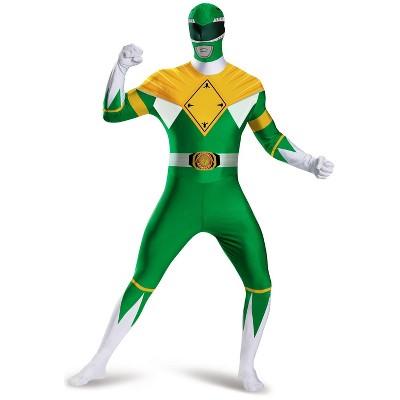 Power Rangers Mighty Morphin Green Ranger Bodysuit Tween/Adult Costume