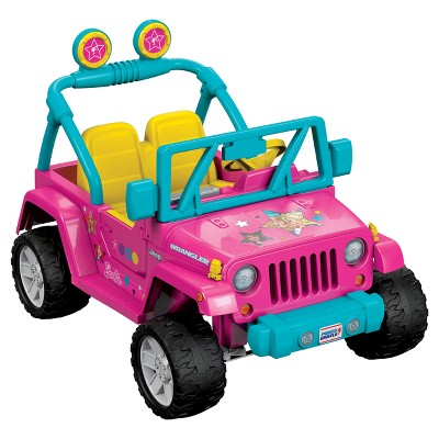 Fisher Price Power Wheels Barbie Jeep Wrangler   Pink
