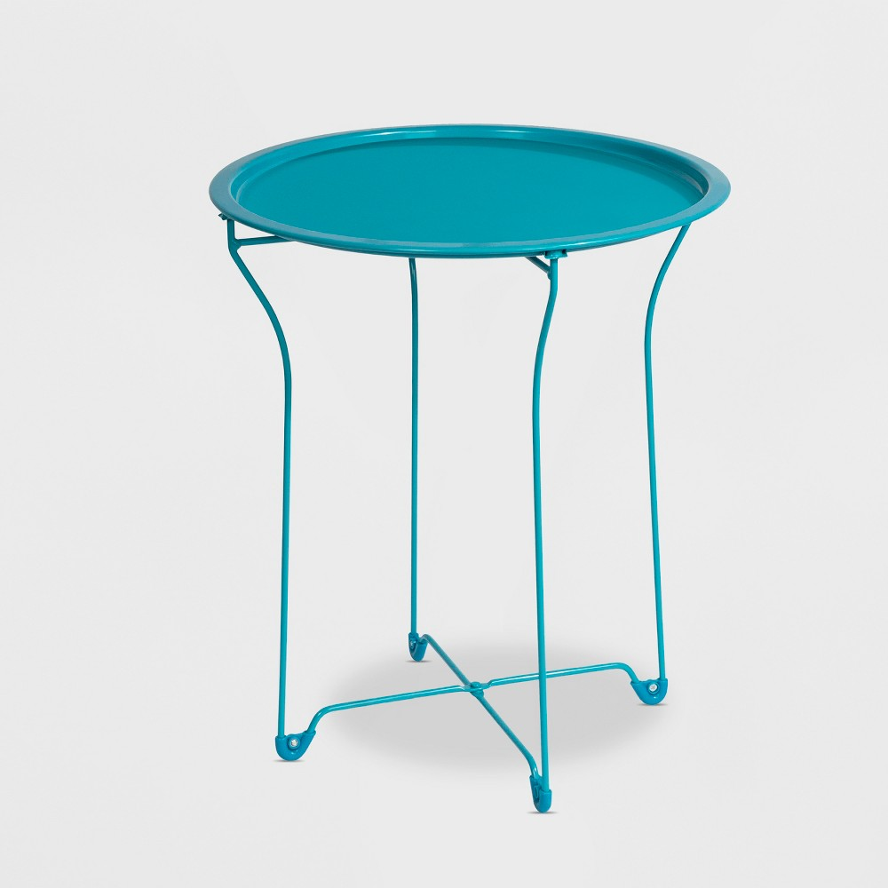 Metal Accent Table Capri Breeze - urb Space, Blue