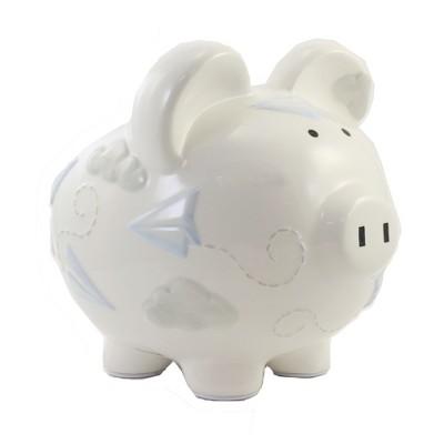 "Bank 7.75"" Paper Airplane Piggy Bank Money Savings  -  Decorative Banks"