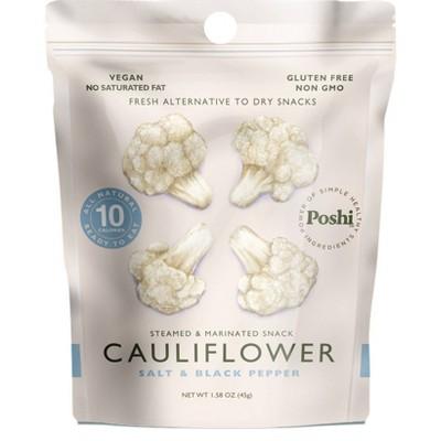 Poshi Gluten Free and Vegan Freshly Marinated Cauliflower with Salt & Black Pepper - 1.58oz