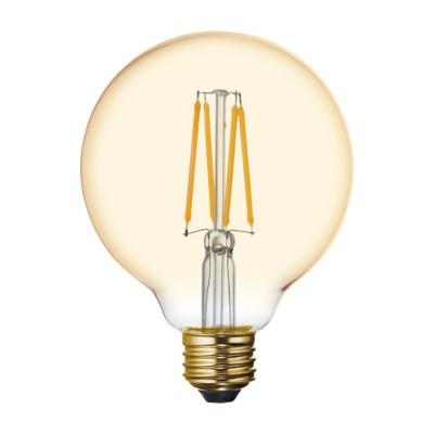 General Electric 60W VintaG30 Globe Filament Amber LED Light Bulb White