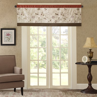 "50x18"" Monroe Embroidered Window Valance"