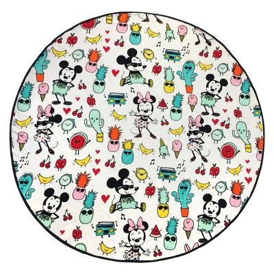 Disney Mickey Mouse Round Beach Towel White