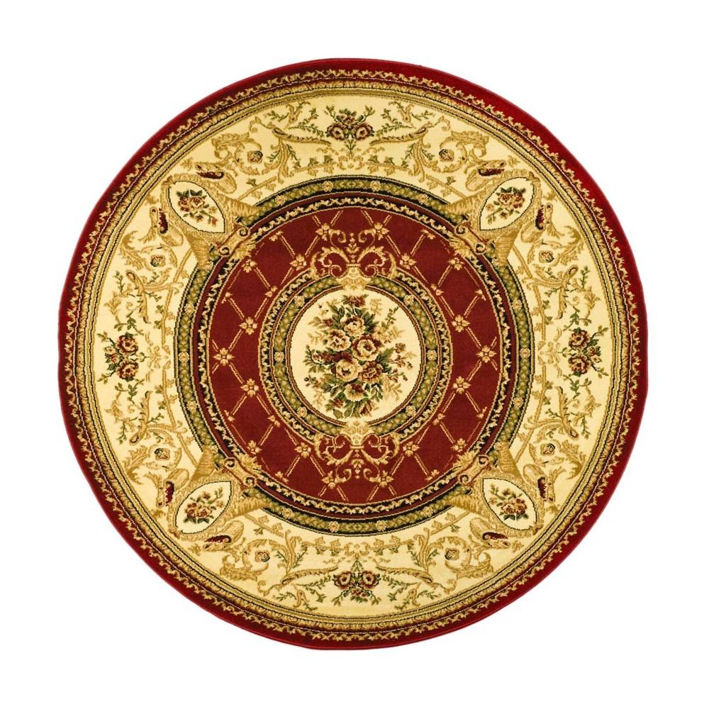 5'3 Loomed Medallion Round Area Rug Red/Ivory - Safavieh