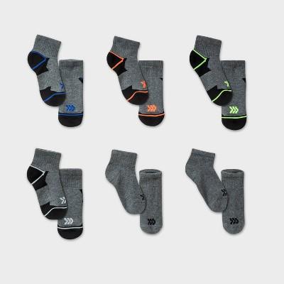 Kids' 6pk Ankle Length Athletic Socks - All in Motion™