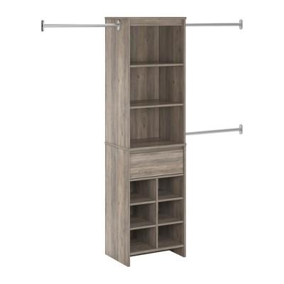 Aldeen Adult Closet System Gray Oak - Room & Joy