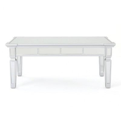 Solanna Mirrored Coffee Table Silver - Christopher Knight Home