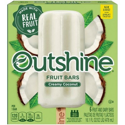 Outshine Coconut Frozen Fruit Bar - 6ct