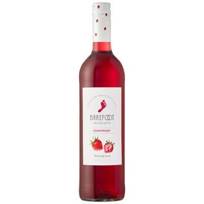 Barefoot Cellars Fruitscato Strawberry Moscato Sweet Wine - 750ml Bottle