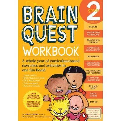 Brain Quest Workbook Grade 2 ( Brain Quest) (Paperback) by Liane Onish