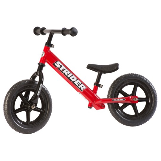 STRIDER 12 Classic Balance Bike For 18 mos. - 3+ years, Kids Unisex, Red image number null