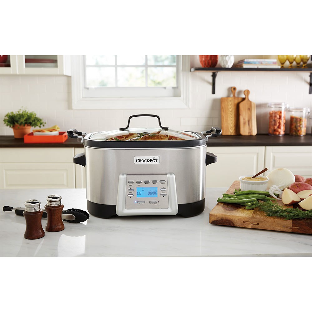 Crock-Pot 5-in-1 Multi-Cooker – Stainless Steel (Silver) SCCPMC600-S 51071230