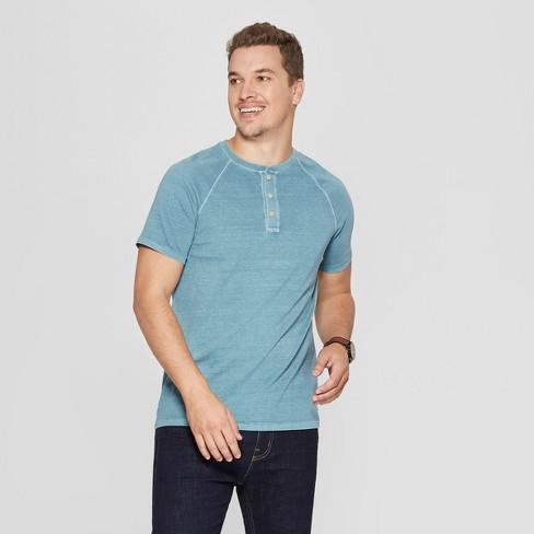 Men's Regular Fit Short Sleeve Henley Shirt - Goodfellow & Co™ : Target