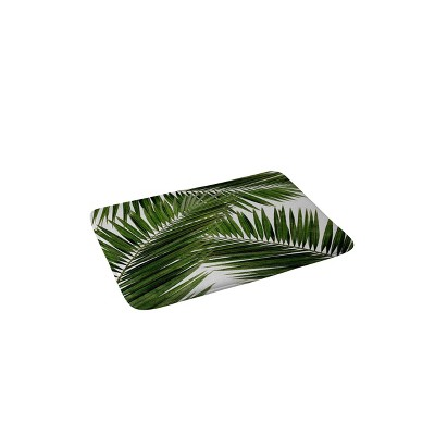 Orara Studio Palm Leaf Memory Foam Bath Mat Green - Deny Designs