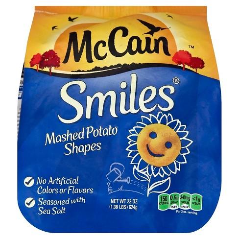 McCain Smiles Mashed Frozen Potato Shapes - 22oz