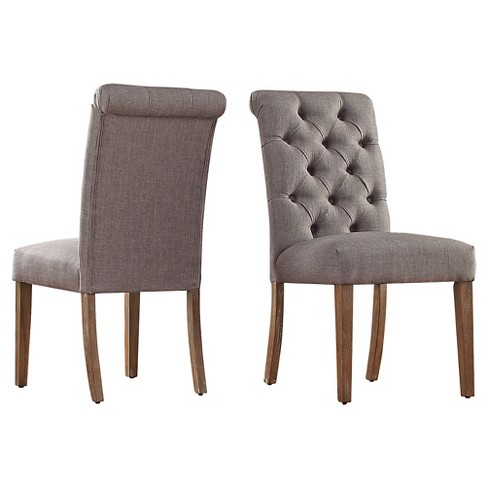 Gramercy On Tufted Dining Chair Wood Smoke Set Of 2 Inspire Q Target