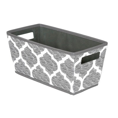 Tapered Bin With Cutout Handle (Ogee)Small Gray - Threshold™