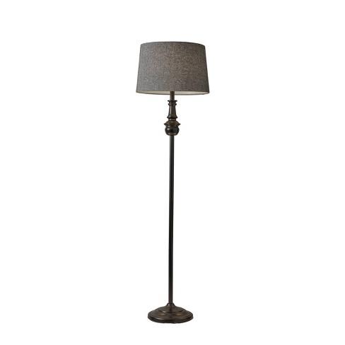 "60"" 3-way Charles Floor Lamp Black - Adesso - image 1 of 4"