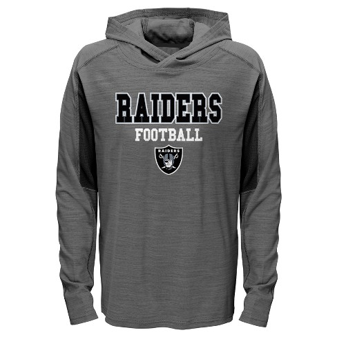 NFL Oakland Raiders Boys' Sideline Speed Gray Lightweight Hoodie - image 1 of 1