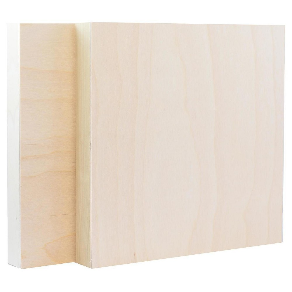 "Image of ""American Easel Cradled Wood Painting Panel, 12""""x12"""" - 2pk"""