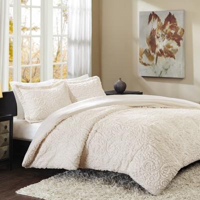 Ivory Albany Ultra Plush Comforter Mini Set King