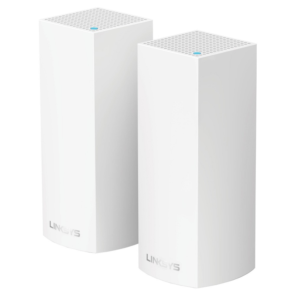 Linksys Velop AC4400 MU-MIMO Tri-Band Whole Home Wi-Fi Mesh with Amazon Alexa 2-pk - White