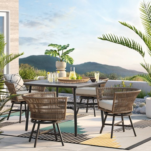Hardoy Patio Dining Set With Swivel Chairs Project 62 Target