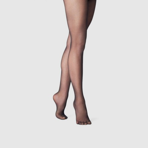 Women's Micro Texture Tights - A New Day™ Black - image 1 of 2