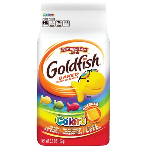 Pepperidge Farm® Goldfish® Colors Cheddar Crackers, 6.6oz Bag - image 1 of 12